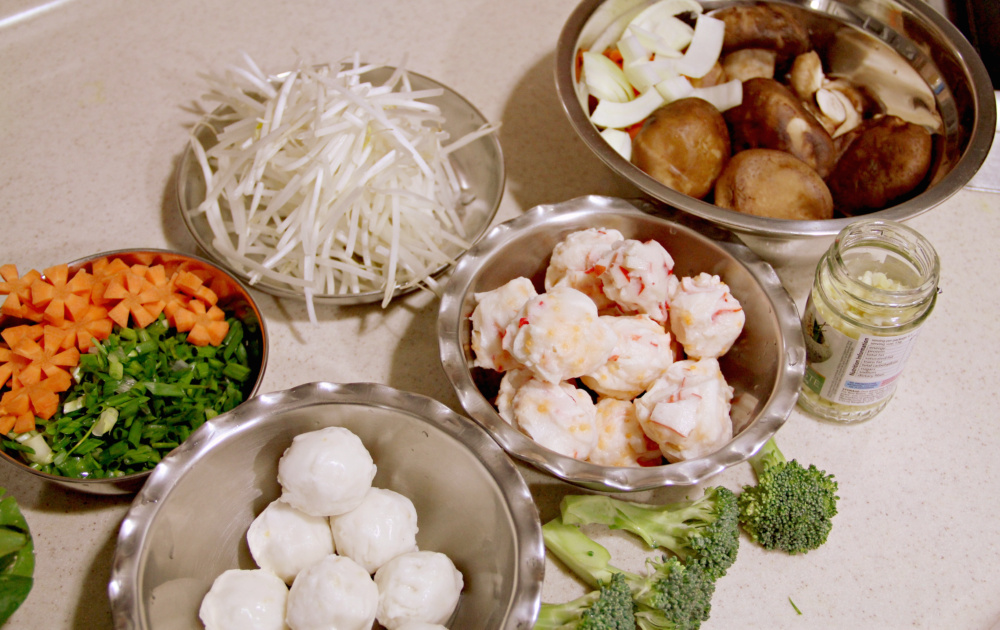 Basic ingredients for fishball soup pic 2