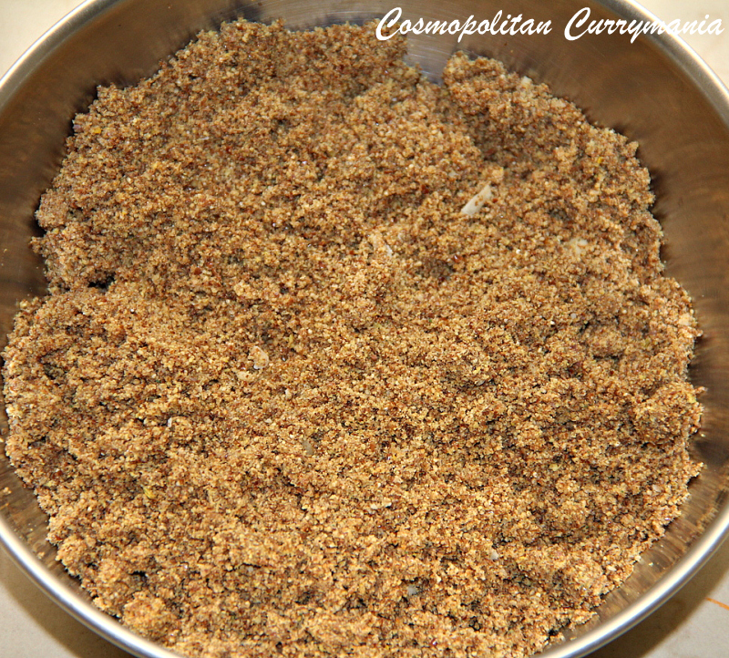 The powder or flour obtained after dry-roasting the seeds and grinding.