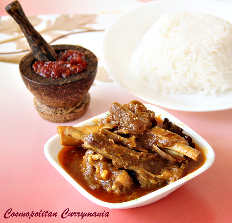Indonesian Sambal Mutton Curry