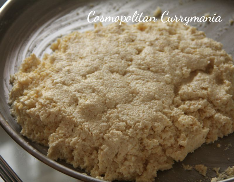 Kneading by hand is the best. Using a food processor will not give the desired texture and creaminess.