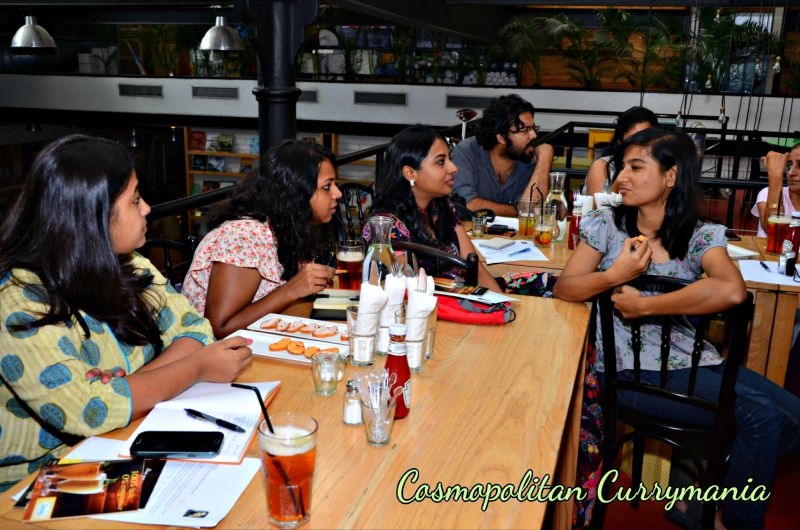 Tea-tasting party at Café Zoe, Lower Parel, Mumbai.