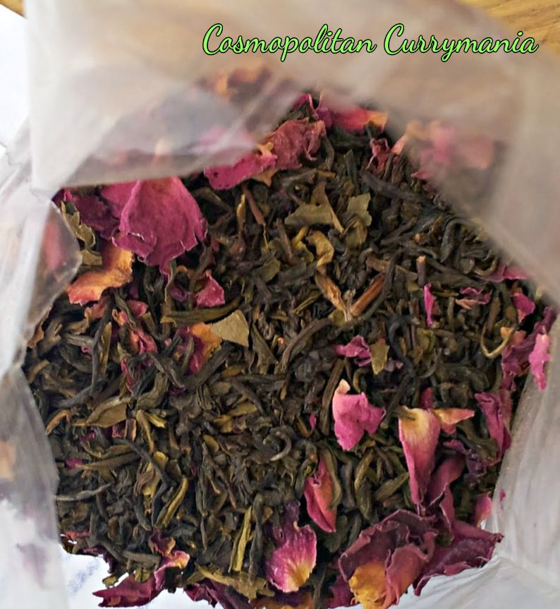 Rose tea: close-up