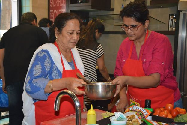 Right: Participant Pratishtha Khan with her mother-in-law.