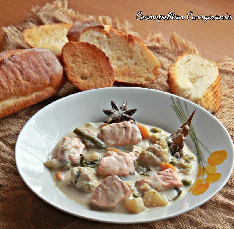 Salmon Chowder with an Indian Twist!