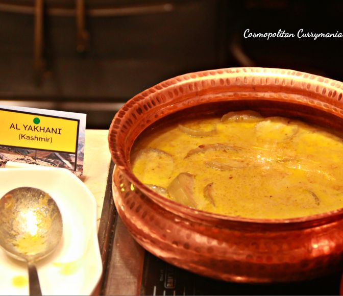 Try this Kashmiri Al Yakhni: a vegetarian dish using bottle gourd. I loved it!