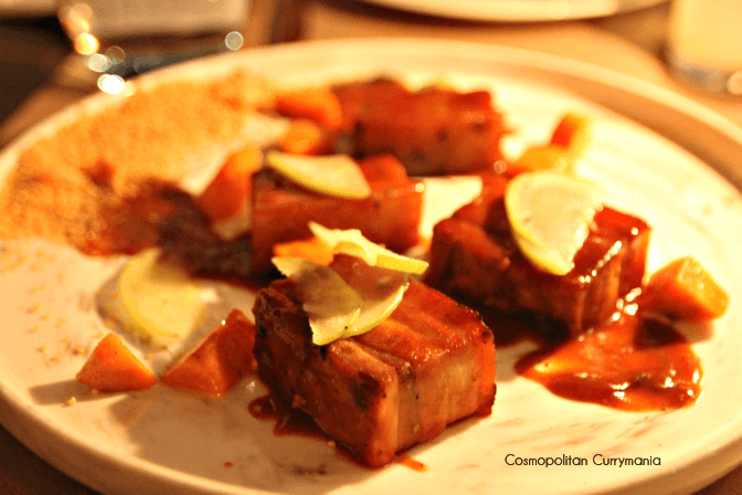 Try this signature dish for sure: Pork and Apple.