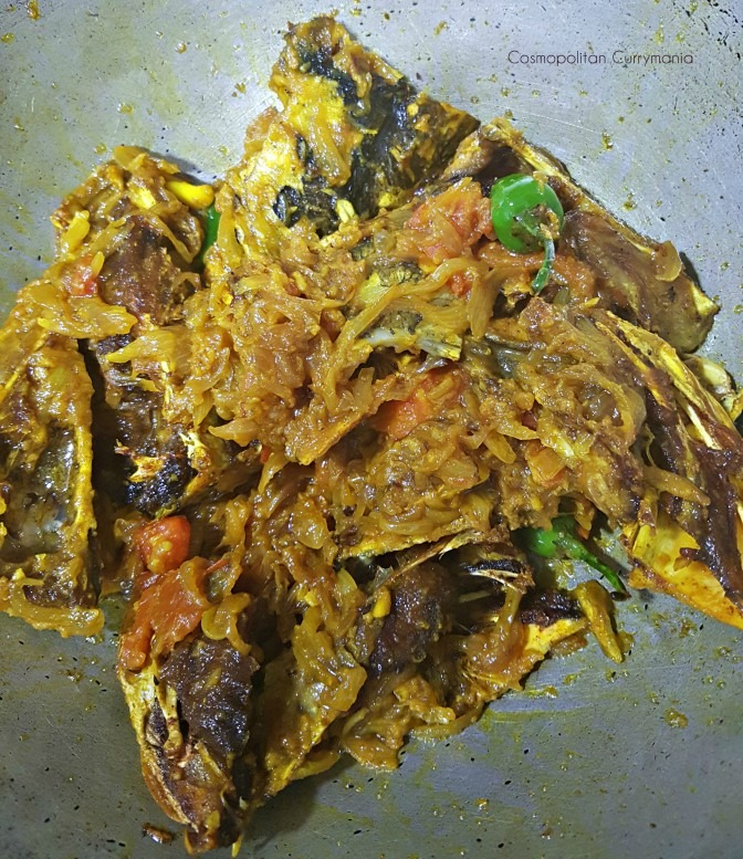Fish heads taste very good with Kochur Loti