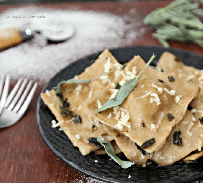 Ham Ravioli with Aashirvaad Atta with Multigrains