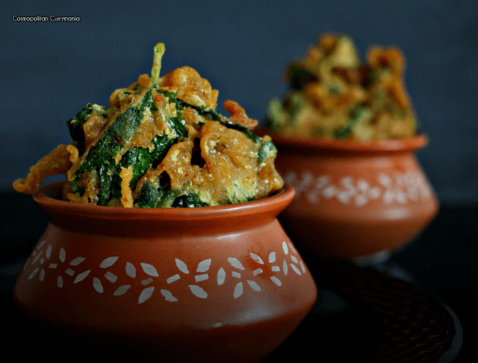 Paat Patar Bora (Jute Leaf Fritters) for #ChaiPakodaDay