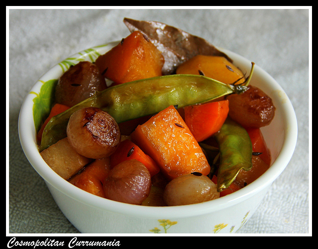 mixed vegetables with tamarind main pic