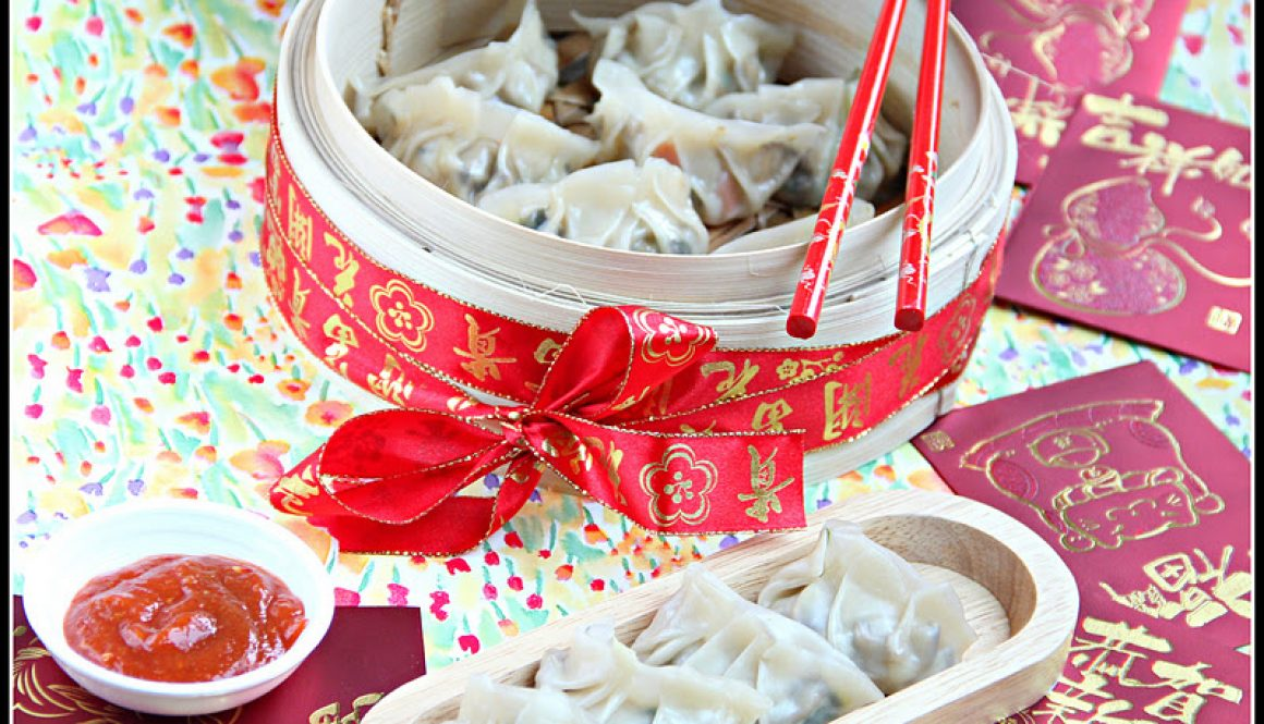 Chinese vegetarian steamed dumplings 1