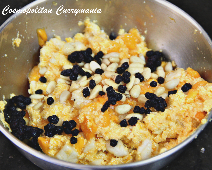 hand pie stuffing with paneer or Indian cottage cheese