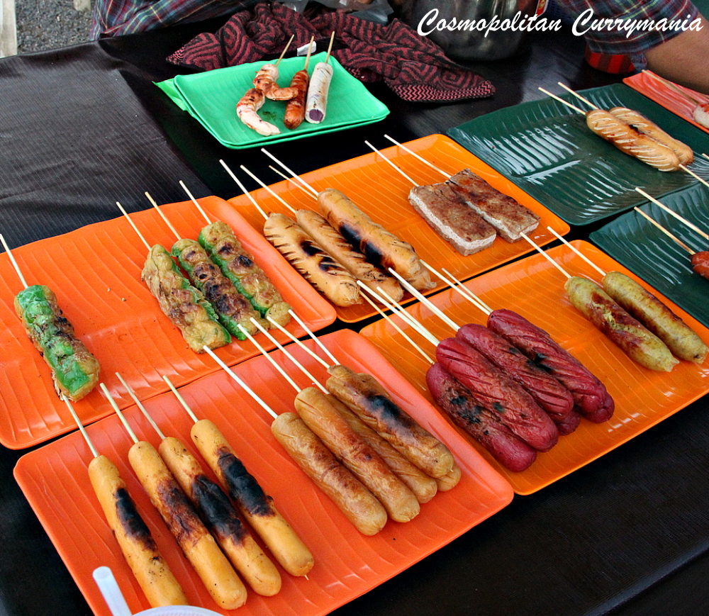 sausages in Local market in Malaysia langkawi
