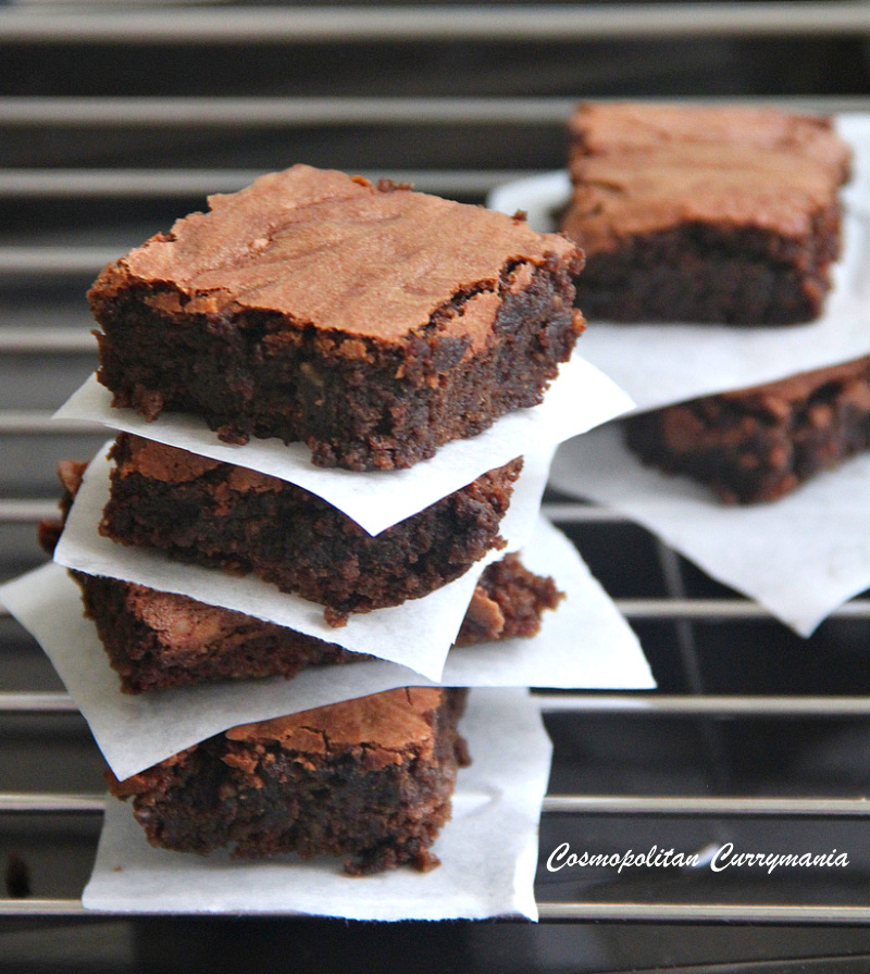 These dark chocolate brownies are rich, sinful and indulgent: just perfect for any occassion!