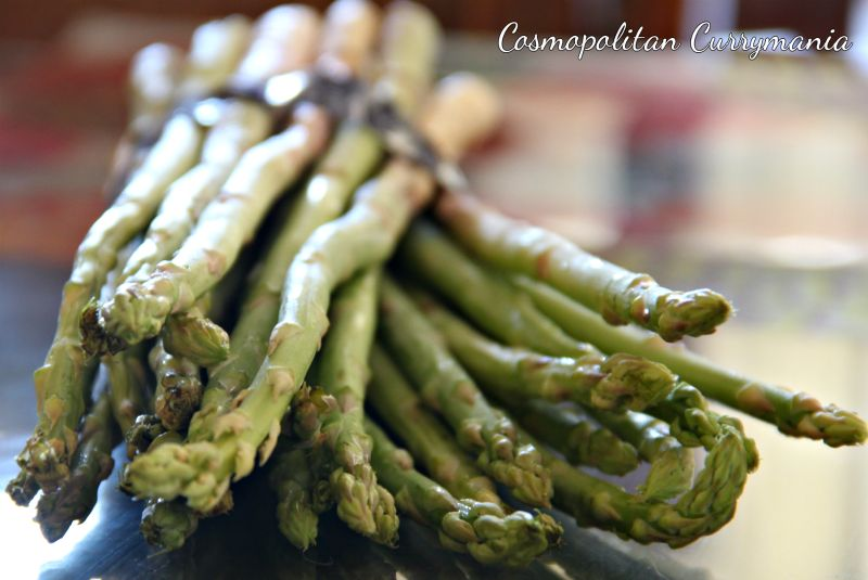Fresh asparagus spears are great in salads!