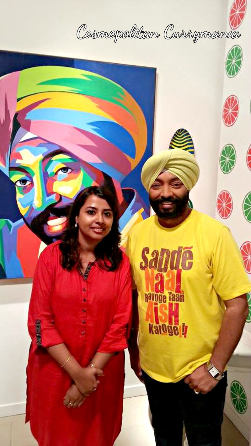 With Food Food Channel Chef Harpal Singh Sokhi.