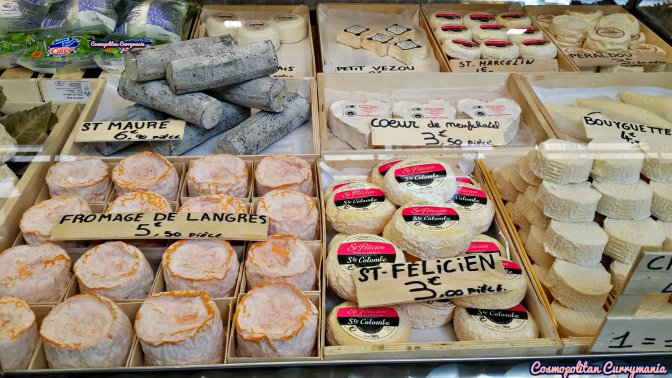 A variety of French cheese.