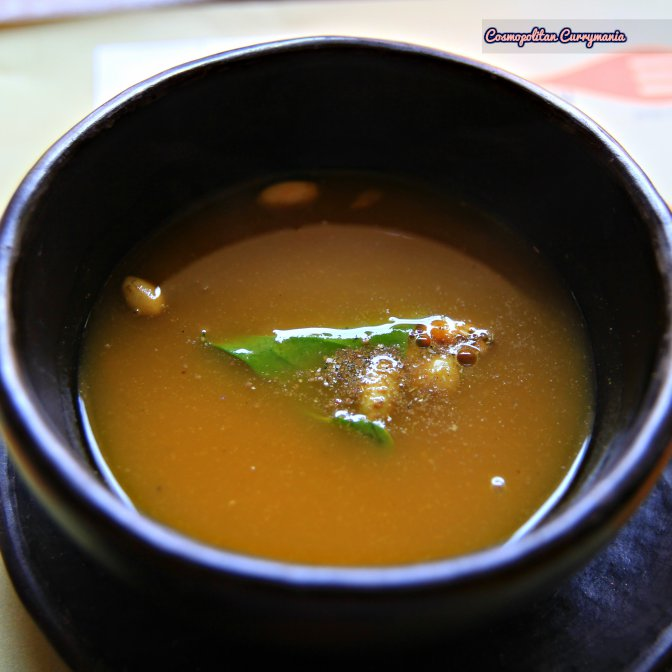 It is unbelievable but true. Chef Vikram Khatri has proved that even a humble pumpkin can deliver loads of flavour. I am addicted to this  Sakura Wood Smoked Pumpkin Soup (vegetarian). A must try!