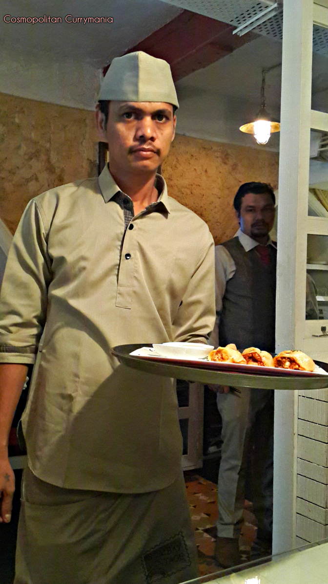 Serving staff at bombay vintage