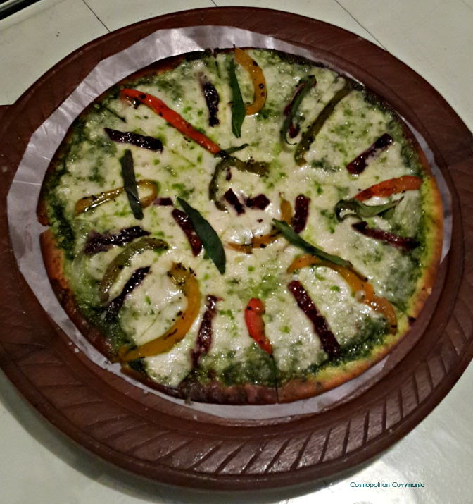 This vegetarian pizza was yum!