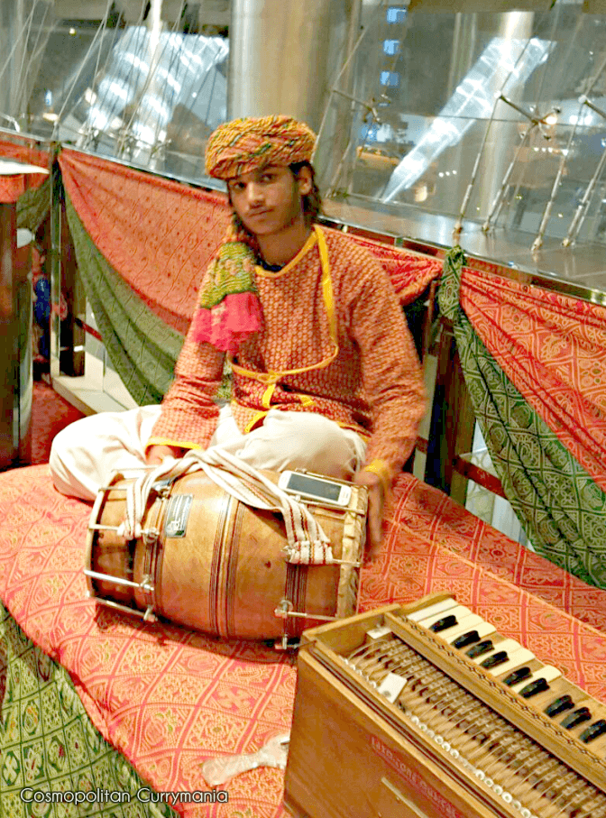 A Rajasthani beating the drum