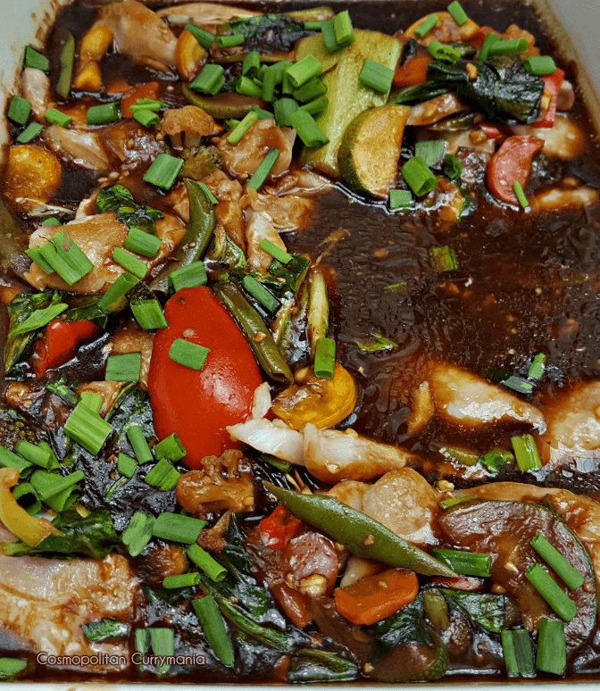Fish Phak Wok Tung: an Asian / Chinese style fish curry
