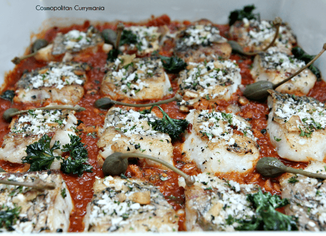 Persillade Crusted Fish with Sicilian Sauce