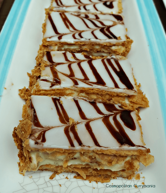 Vanilla Mille Feuille French pastry