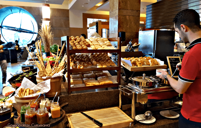 Different kinds of breads at the Italian Saturday brunch at Celini.