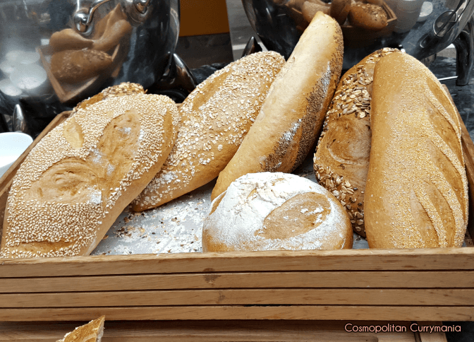 Breads at the Tiqri weekend brunch