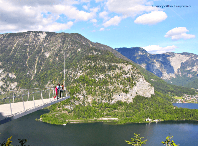 welterbeblick skywalk in Hallstatt by cable car