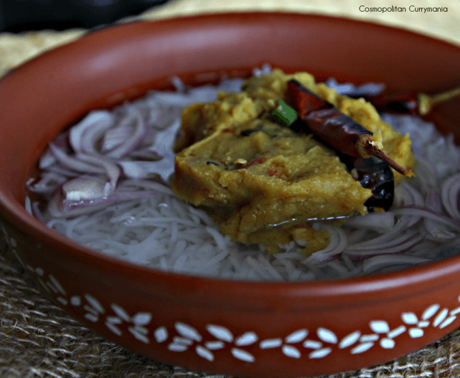 Musur Dal cooked with tamarind in Bengali style