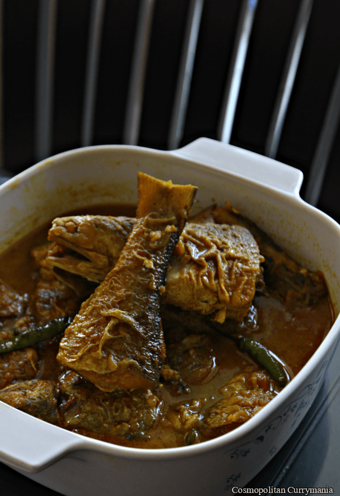 rawas or Indian salmon curry Bengali style