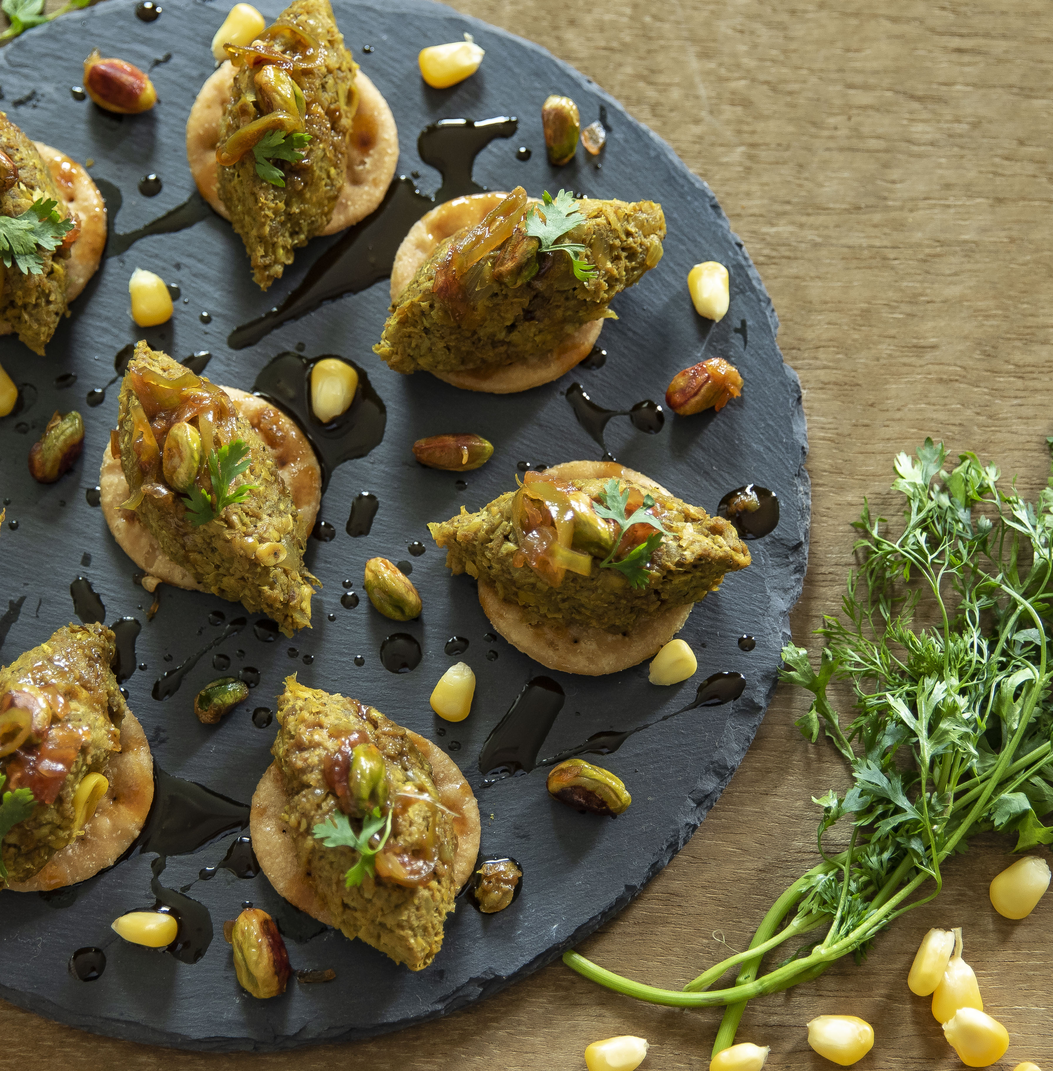 Mutton and Corn Paapdi chaat recipe