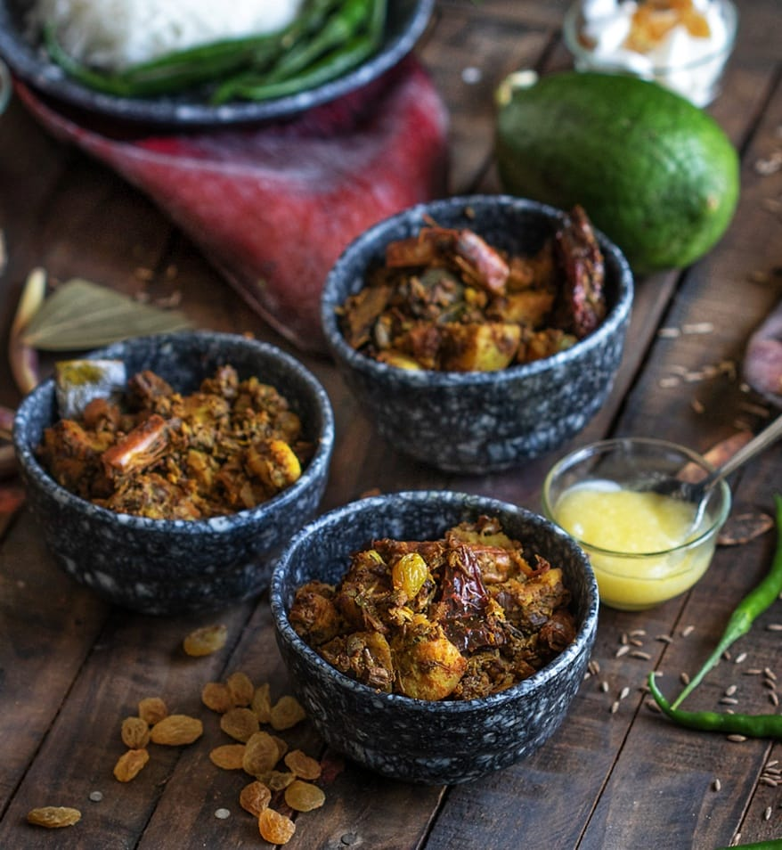 Mocha Chingri is a Bengali delicacy, cooked with banana flowers and prawns.