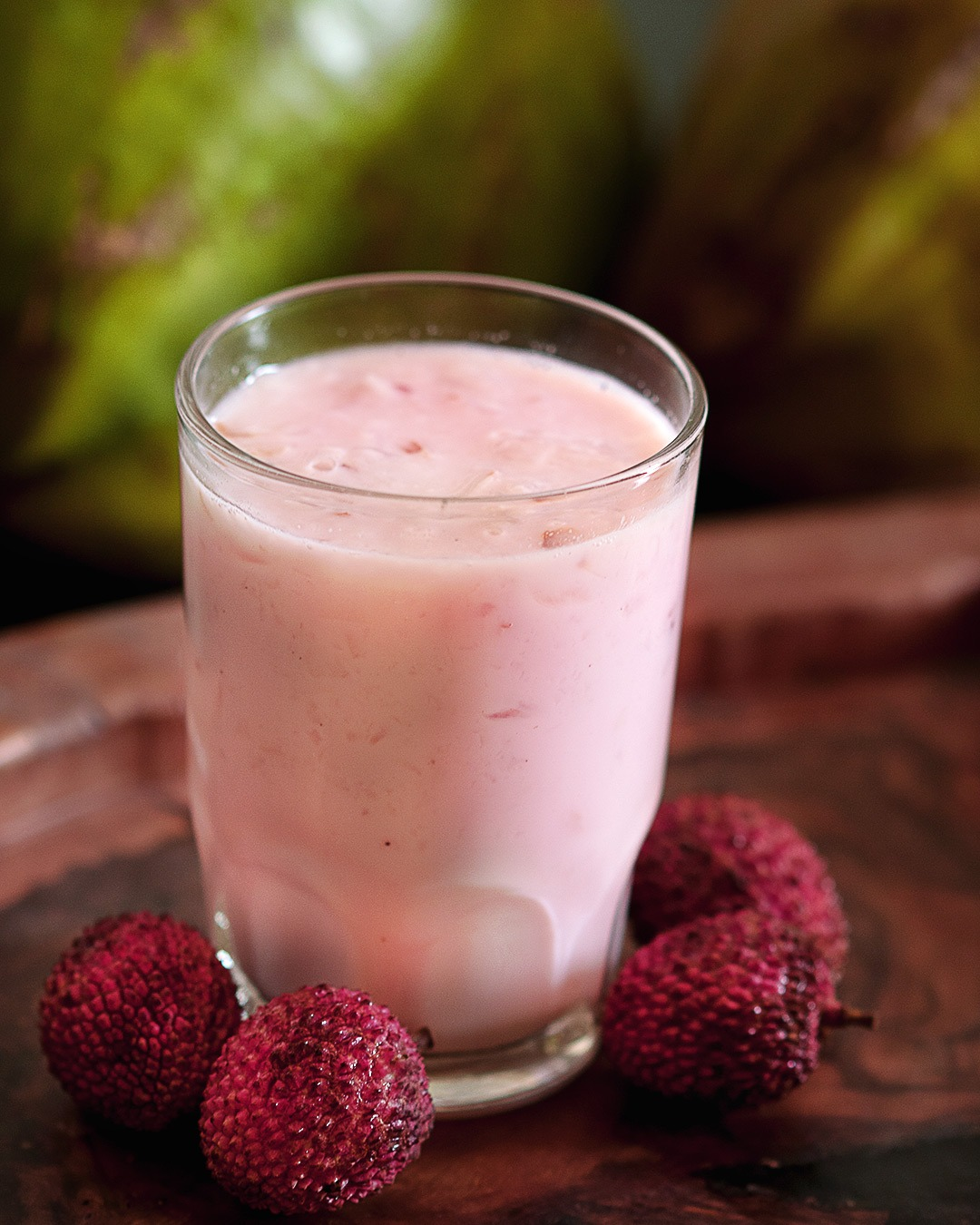 Coconut and lychee mocktail