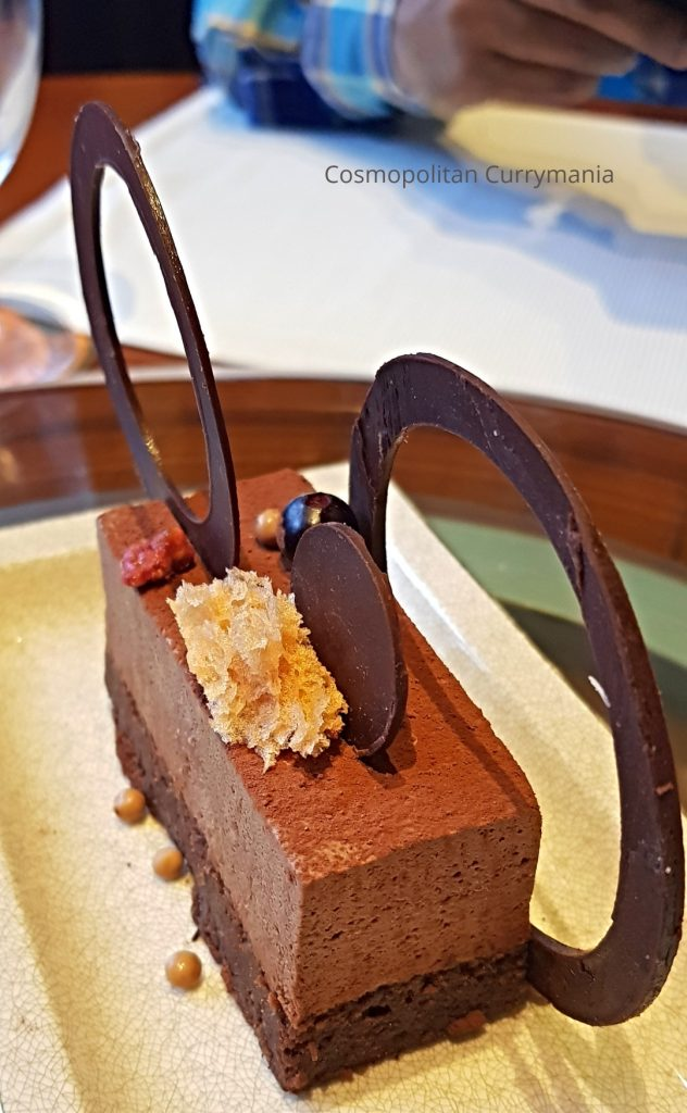 Chinese five spice dessert with chocolate