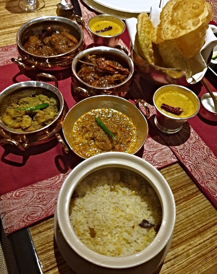The Main Course spread at the Aaheli popup in The Leela Mumbai