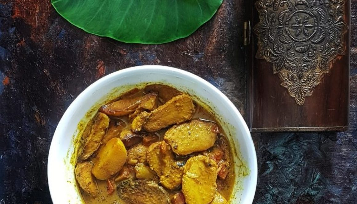 colocasia curry bengali style