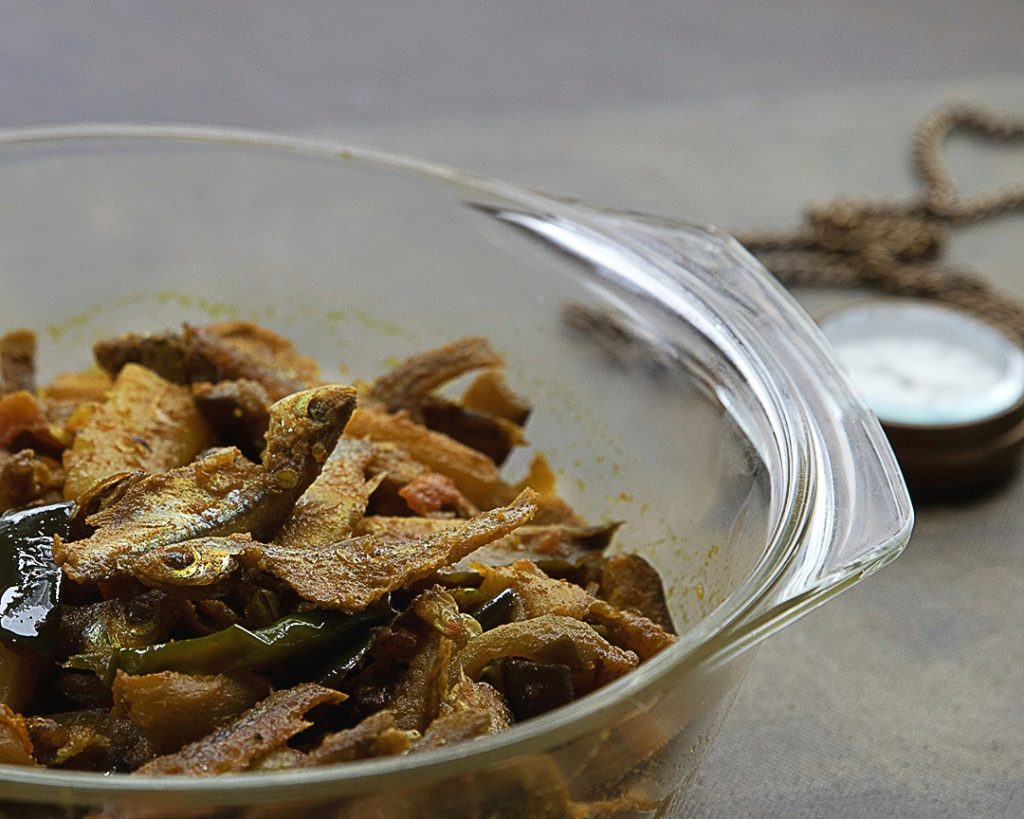 Bengali recipe with anchovies